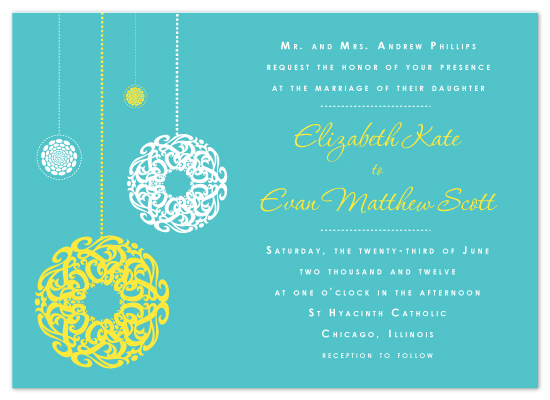 wedding invitations - Swirling Chandelier by April Muschara