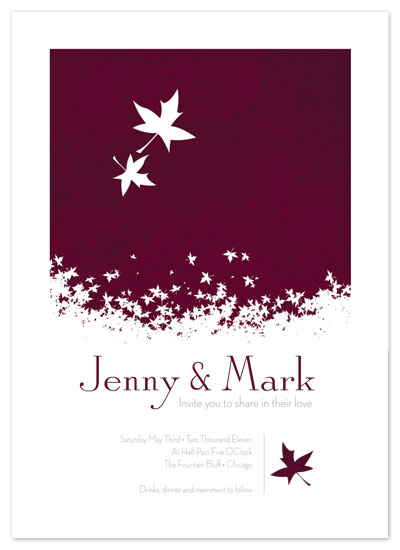 wedding invitations - Falling leaves by Amy