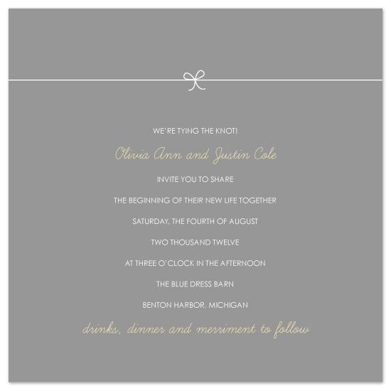 wedding invitations - Petite Knot by Amy Kuchan