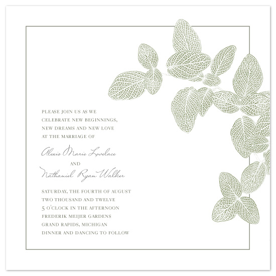 wedding invitations - Intricate Leaves by Amy Kuchan