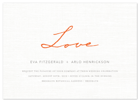 wedding invitations - Simply in Love by cambria