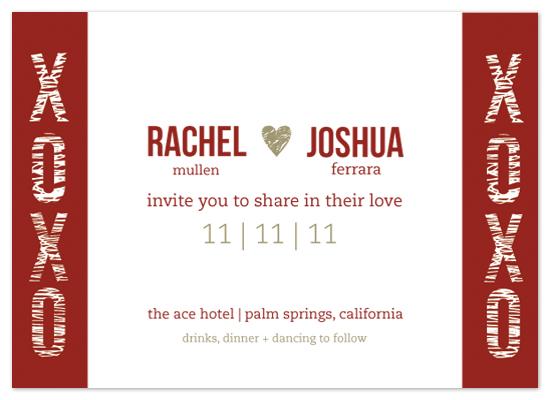 wedding invitations - i heart u by Amanda Michaud