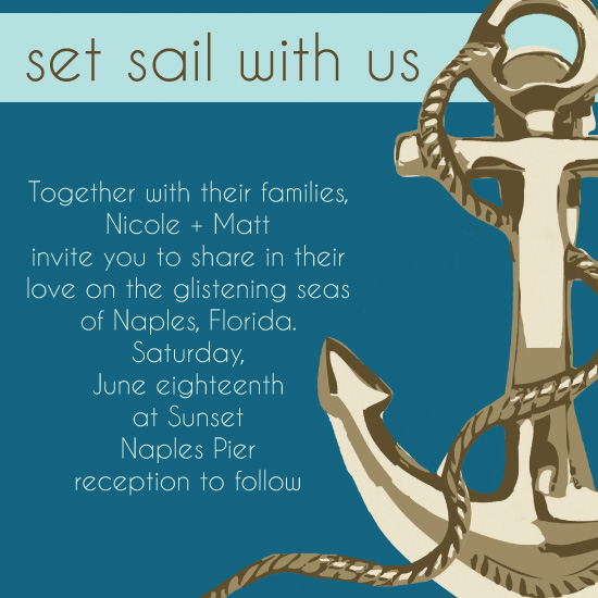 wedding invitations Love Anchor at Mintedcom
