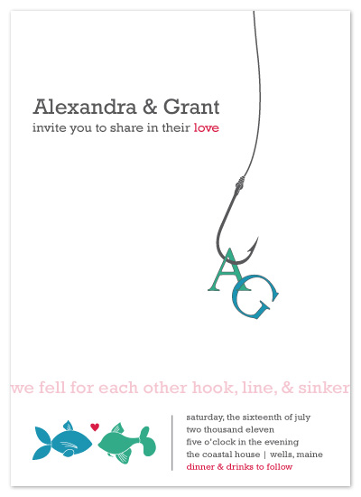 wedding invitations - hook, line & sinker by Amanda Michaud
