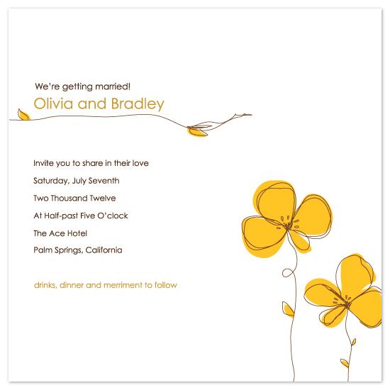 wedding invitations - Sketch2Flowers by Amanda Michaud