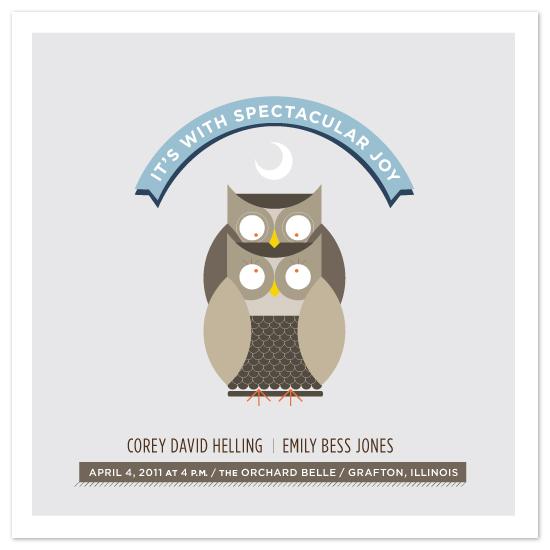 wedding invitations - Two Owls by Corey David Helling