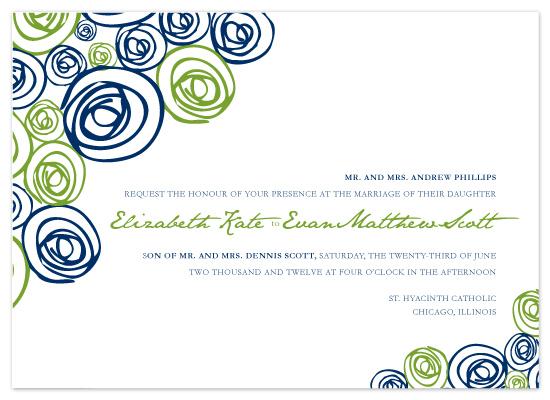 wedding invitations - Floating Flowers by Kim Wooldridge