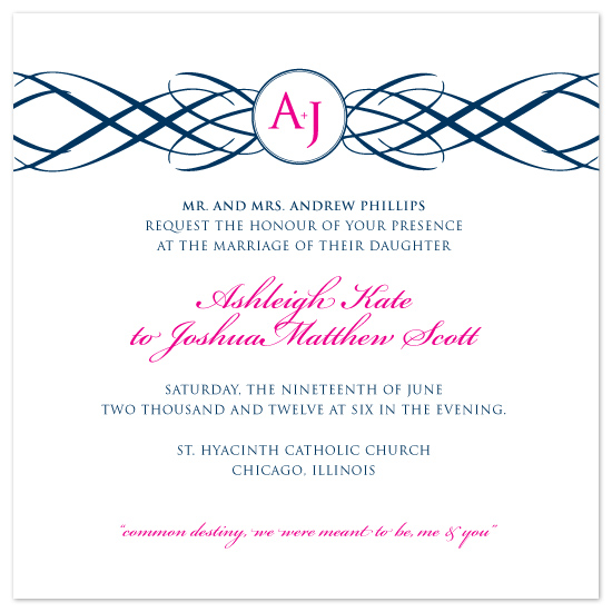 wedding invitations - Monogrammed Flourish by Kim Wooldridge