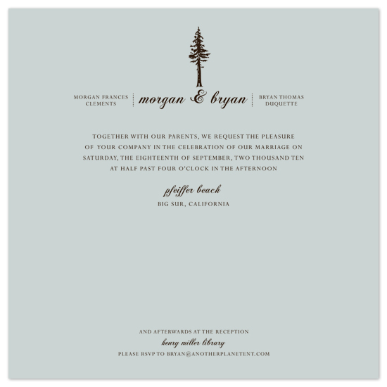 wedding invitations - big_sur_trees by Ashley Moura