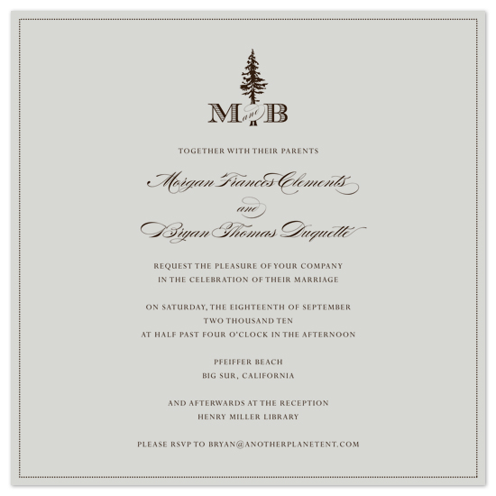 wedding invitations - classic_forest_monogram by Ashley Moura
