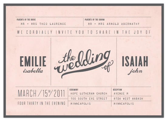 wedding invitations - Mr. Laurence by Moglea