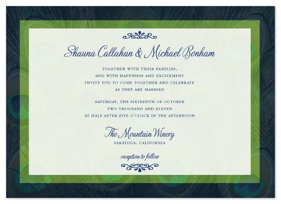wedding invitations - Elegant Peacock by Kristin Robinson
