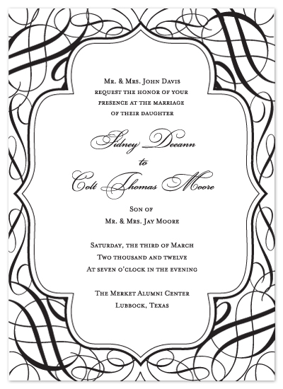 wedding invitations - Fit for a Queen by Dinah Hodges