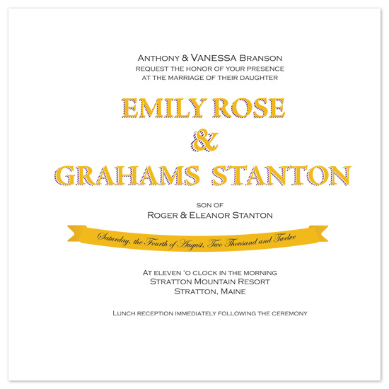 wedding invitations - Classic Sunshine by Paula B