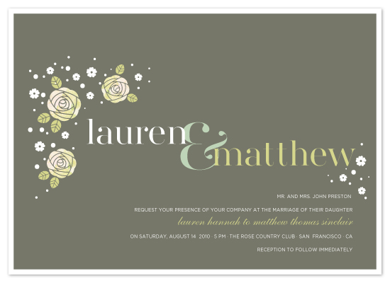 wedding invitations - Rosettes by Coco and Ellie Design