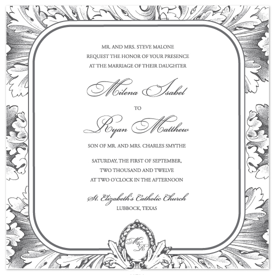 wedding invitations - Corinthian Elegance by Dinah Hodges