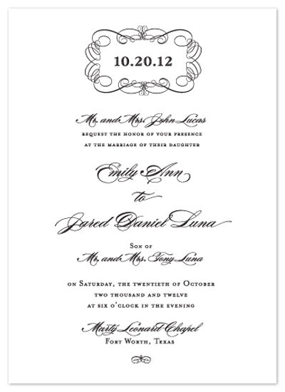 wedding invitations - Scroll Plaque by Dinah Hodges
