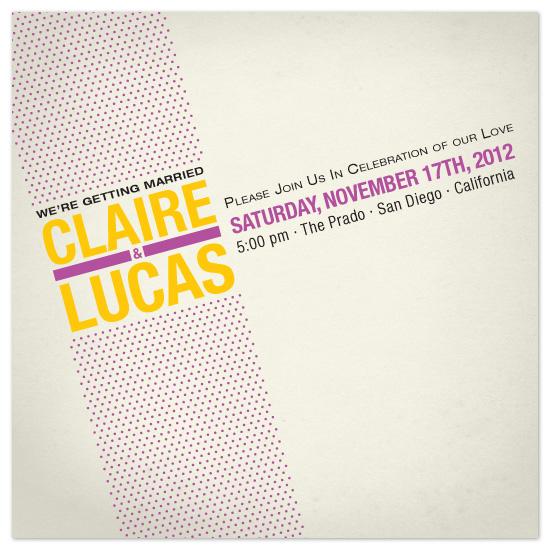 wedding invitations - Diagonal Dots by Lizzy B Loves