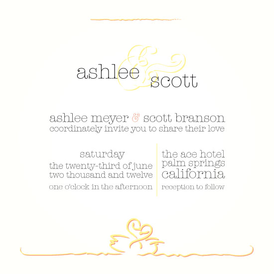 wedding invitations - love ever after by carrie luu