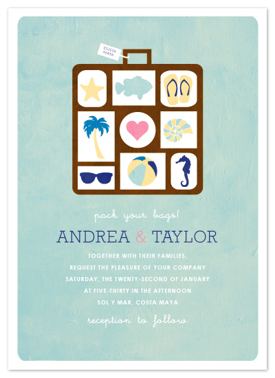wedding invitations - Pack Your Bags! at Minted.com