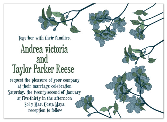 wedding invitations - Hydrangea In Bloom by Caitlin Lamb