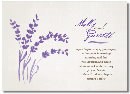 Wedding Invitations   Soft Lavender By Tickled Ink Paperie