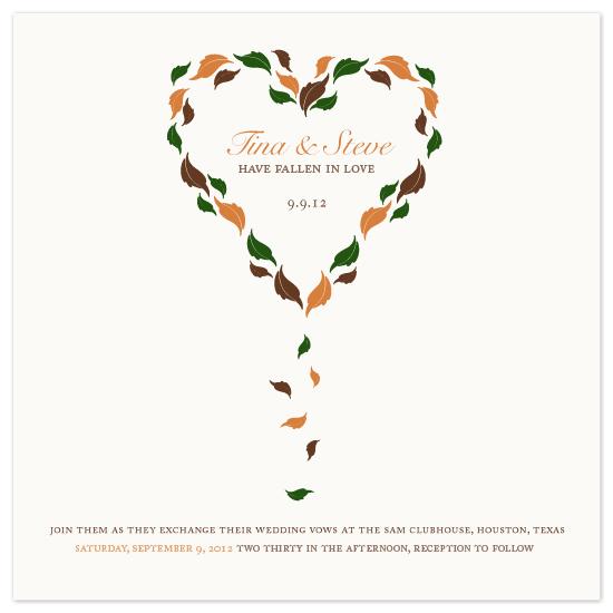 wedding invitations - Fallen In love by MelStudio