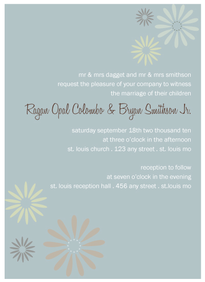 wedding invitations - Hippy Chick by Kerry Colombo