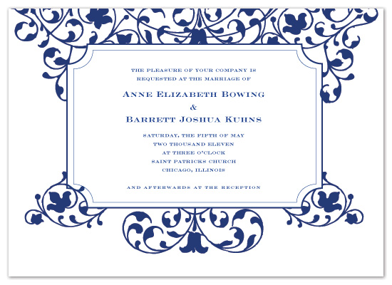 wedding invitations - Margaret by Sarah Drake