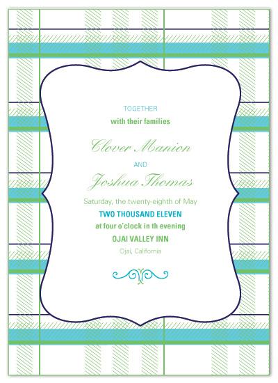 wedding invitations - Plaid Wedding by Sarah Drake