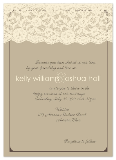 wedding invitations - HEIRLOOM LACE by Print Julep