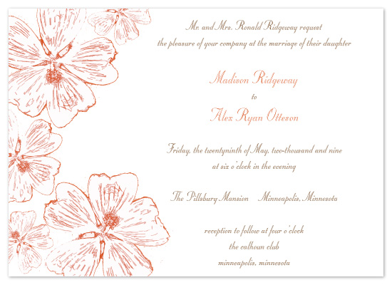 wedding invitations - Amber Mallow by Gina Fink Kosek