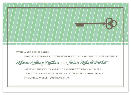 wedding invitations - TURN KEY by Print Julep