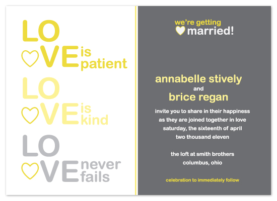 wedding invitations - INSPIRED LOVE by Print Julep