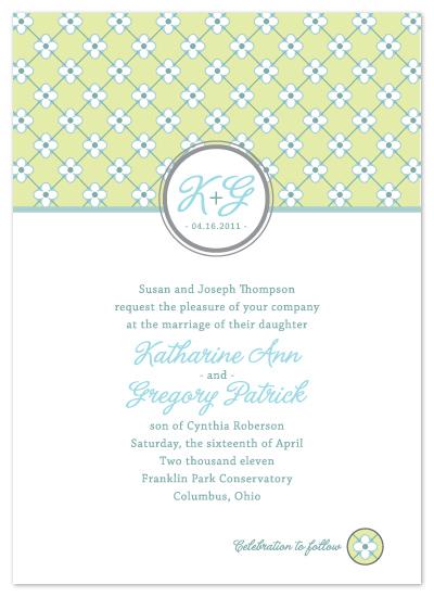 wedding invitations - FARMHOUSE WALLPAPER by Print Julep