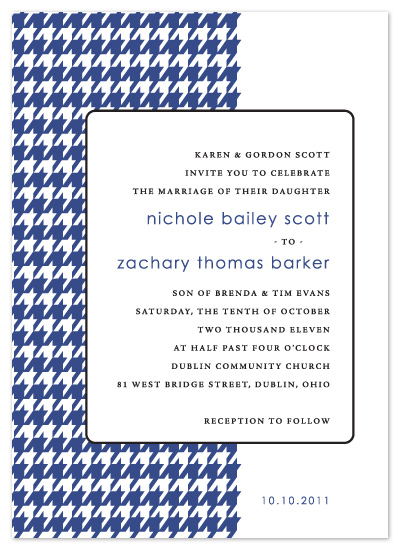 wedding invitations - HOUNDSTOOTH by Print Julep