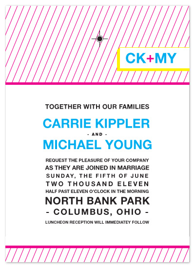 wedding invitations - CMYK by Print Julep