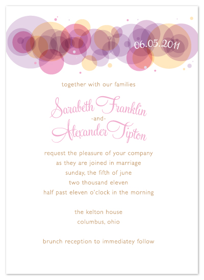 wedding invitations - MIMOSA BUBBLES by Print Julep