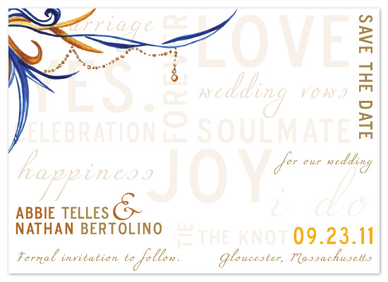 save the date cards - Love Letters by My Blue Sparrow