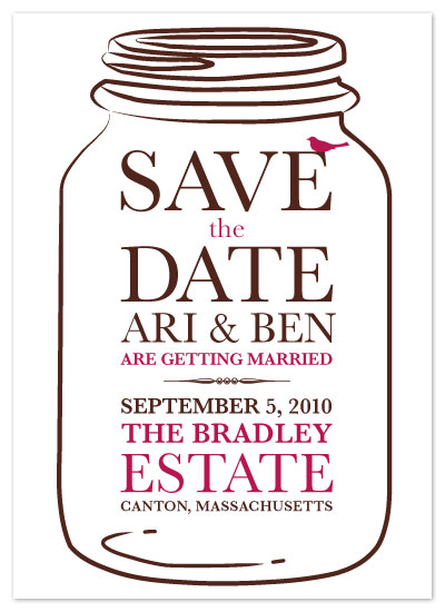 save the date cards - A Mason Jar by Red Turtle