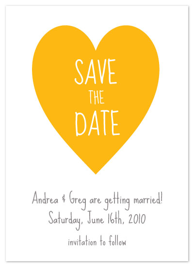 save the date cards - A Happy Heart by Red Turtle