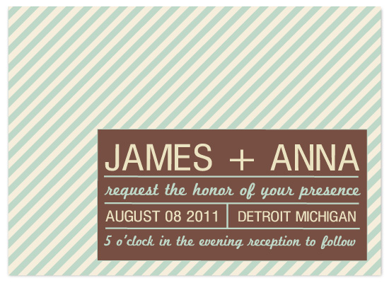 save the date cards - Modern Stripes by EllaELeanor