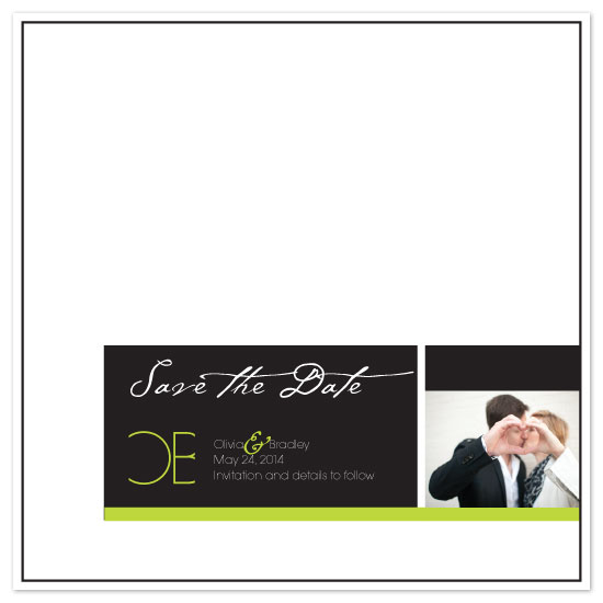 save the date cards - heart n hands by Rock Candy
