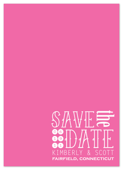 save the date cards - Contemporary Prep by Kathleen Burlew
