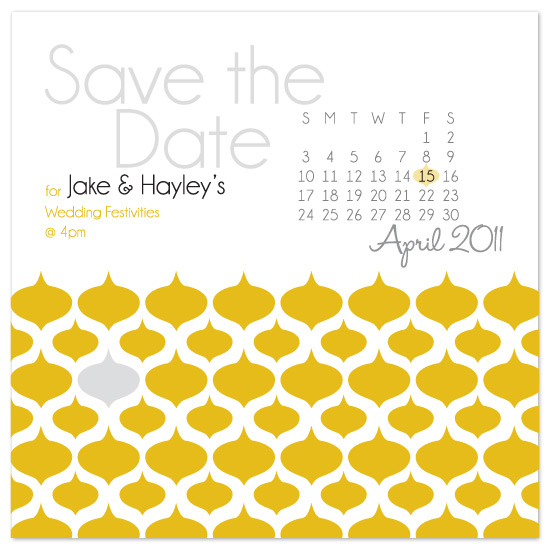 save the date cards - Mustard Lemon by Hayley Castle