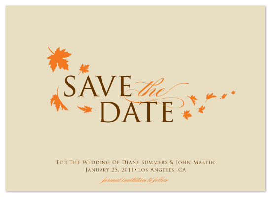save the date cards fall breeze at minted com