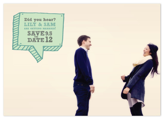 save the date cards - Did you hear? by Red Turtle