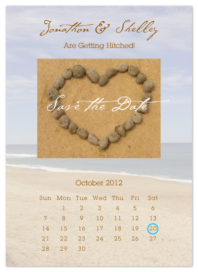 save the date cards - Pebble Heart by Danielle Higgins
