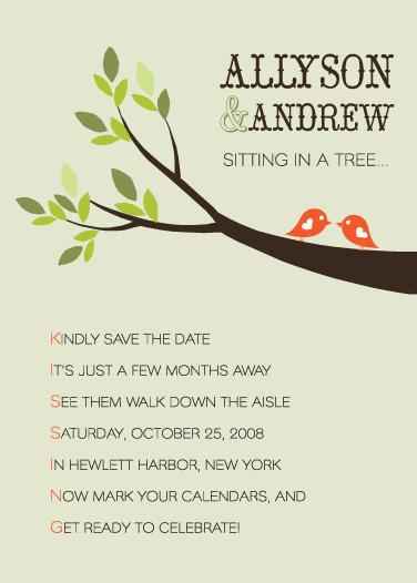 save the date cards - K-I-S-S-I-N-G by Courtney Michelle Designs