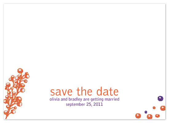 save the date cards - Autumn Buds by Rock Candy